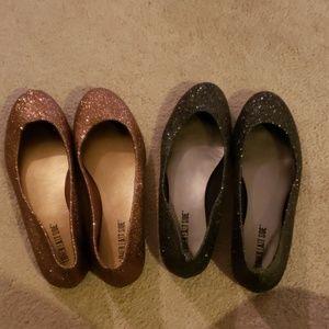 EUC Lot of 2 pairs: sparkly dress flats